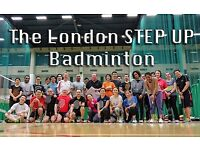 Friendly badminton group with professional coaching