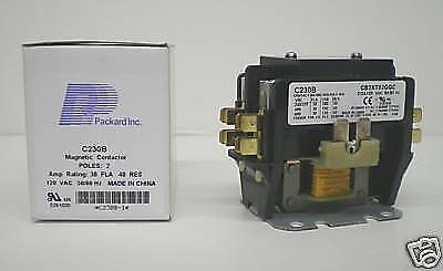 C230b Double Two 2 Pole 30 Amps 120 Volts Ac Contactor