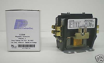 C230B Double two 2 Pole 30 Amps 120 Volts A/C Contactor