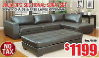 BRAND NEW SECTIONAL SOFA SET FOR SALE WITH LARGE OTTOMAN
