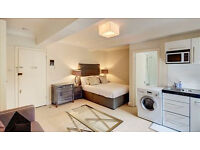 A bright and spacious ground floor studio apartment within mins walk to South Kensington station