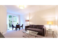 Two bedroom apartment with landscaped garden in Kensington