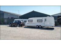 2008 Swift Charisma 590/6 6 Berth Fixed Bunk Beds End Washroom Twin Axle Touring Caravan.