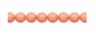 24 Coral Swarovski Crystal 5810 Round Pearl Beads 6MM 6mm Crystal Round Bead