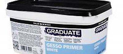 Daler Rowney Graduate White Gesso Primer - 1 Litre Tub