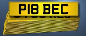 P18 BEC Number plate / private / personalised registration