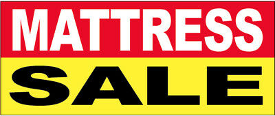 Mattress Sale - Vinyl Banner 2x4 Ft Sign New - Ryb