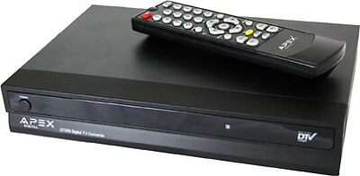 Apex Dt250a Digital Converter Box With Analog Passthrough...