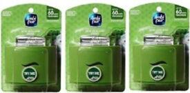 3 New Green Ambi Pur Set & Refresh Holders Diffuser Units.