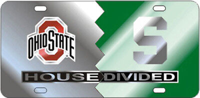 OHIO STATE  / MICHIGAN STATE House Divided License Plate / Car Tag