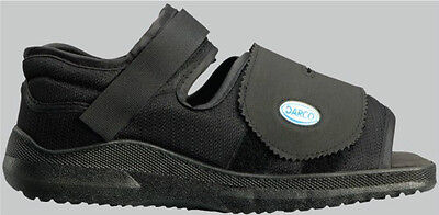 - DARCO Square Toe Medical-Surgical Post Operative Shoe MedSurg Black SQ ALL SIZES