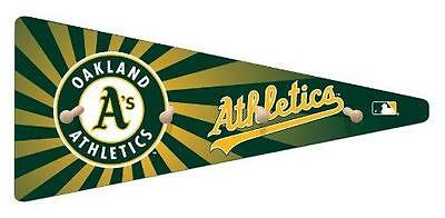 MLB Oakland Athletics 24-Inch Team Pennant Coat Hat Rack Full Color Team (Pennant Coat Rack)
