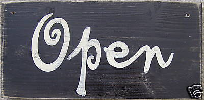 OPEN CLOSED Store Shop Door Sign HP ChiC ShaBBY Business 2 Sided YOU PICK COLOR -