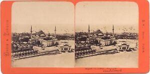 Costantinopoli Grecia & Turchia Foto B.K.Parigi Stereo Vintage Manzo-Bianco Ca