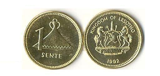 LESOTHO: 3 PIECE UNCIRCULATED COIN SET #1, 1 TO 5 LESENTI