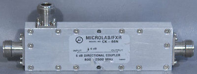 Microlabfxr Ck-66n Dual-section Wideband Air-line 6 Db Directional Coupler