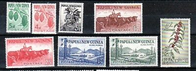 PAPUA NEW GUINEA Sc 139-46 NH SET OF 1958