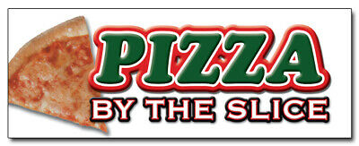 24 Pizza By The Slice Decal Sticker Shop Supplies Stand Equipment Promotion