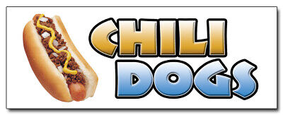 24 Chili Dogs Decal Sticker Hot Dog Cart Stand Supplies Stand Cart Trailer