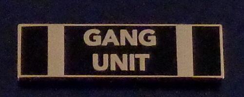 GANG UNIT Gold on BLACK Uniform Commendation/Award Bar police/sherifff
