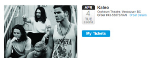 KALEO at The Orpheum! Sold-out concert on April 4, 2017