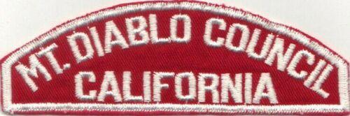 BOY SCOUT RWS MT. DIABLO COUNCIL / CALIFORNIA RED & WHITE FULL STRIP