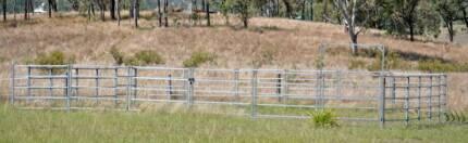 Steel Panel Horse Training Yard 23 panels + 1 gate Kilkivan Gympie Area Preview