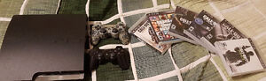 Sony PS3 Slim 2 Controller/Manettes + 6 Games/Jeux
