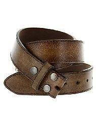 mens vintage brown leather belt ebay