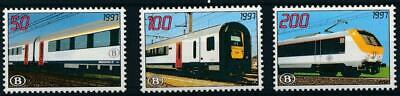 [104] Belgium 1997 railway good set very fine MNH stamps