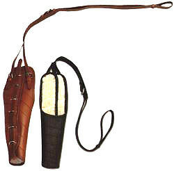 Spanish Cubrecola Leather Tailguard, Black, Andalusian Tack, Castecus by Zaldi
