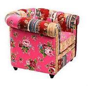 ohrensessel bunt sessel ebay. Black Bedroom Furniture Sets. Home Design Ideas