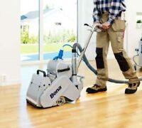 Terminer le grand ménage après le sablage de plancher de bois !