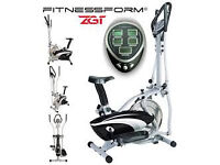 Fitnessform Fitness Pro ZGT 2-in-1 Elliptical Cross Trainer and Exercise Bike