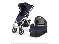 Uppababy Vista Stroller/Buggy Travel System (Taylor Blue) plus accessories