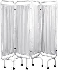 white screens - with polyester curtains