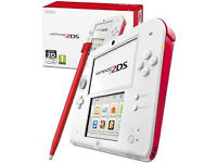 NINTENDO 2DS WHITE AND RED 4GB