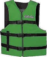 Two Adjustable LifeSaving Vests - $ 15 each  New  Dark Green