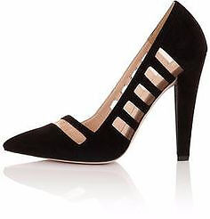 BRAND NEW PAPER DOLLS LADIES MESH CUT OUT HIGH HEEL IN BLACK SIZE UK 6 EU39