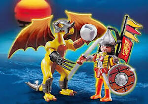Playmobil Rock Dragon w/ Warrior ~ 100% complete ~ LIKE NEW