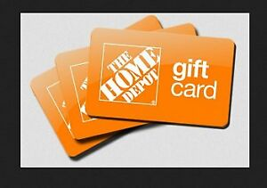 $123 Home Depot Gift Card   OBO