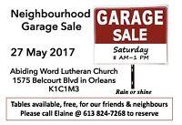Neighbourhood Garage Sale @ Abiding Word Lutheran Church-Orleans