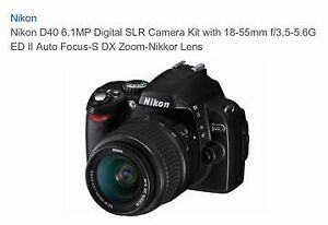 Nikon D40 Digital SLR Camera with 2 Lenses