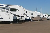 SECURE STORAGE SPACES FOR BOATS, RVS, MOTORHOMES, AND MORE!