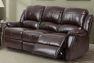 New Reclining Sofa in a Brown or Black PU