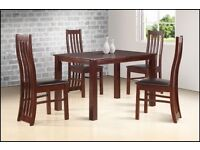 **LIMITED EDITION**BRAND NEW SOLID OAK DINING TABLE SET WITH 4 WAXED CHAIRS