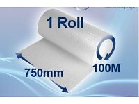Large Roll Bubble Wrap - 750mm high x 100 metres long