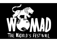 WOMAD Teenager 4 Day ticket Thur 26 to Sun 29th July 2018