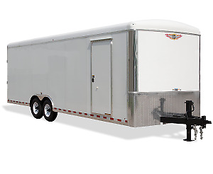 H & H Enclosed Car Hauler Trailer For Sale