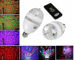 RGB Full Color Rotating Light Bulb